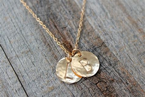 Mom Necklace / Children's Initial Necklace / Gold Disc