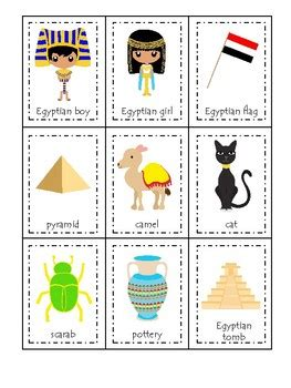 Egypt themed 3 Part Matching Game