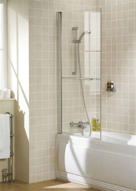 Lakes Showering Spaces Square Single Panel Bath Screen