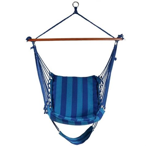 Hanging Padded Cushioned Hammock Chair With Footrest