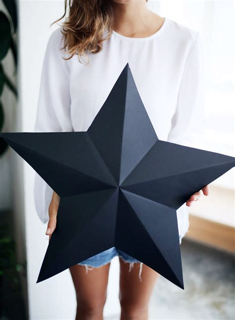 DIY 3D Star Decorations / Gift Boxes   A Pair & A Spare