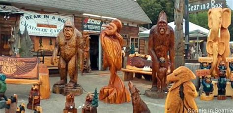 Allyn, WA - Largest Collection of Chainsaw Carvings