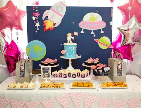 Cool party ideas for kids: A girly twist on a space-themed