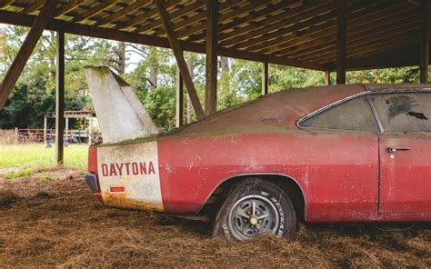 A Completely Wrecked Dodge Charger Daytona was Found in a