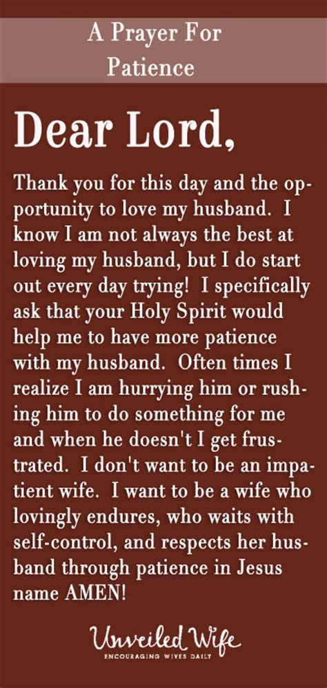Prayer Of The Day - Having Patience With My Husband