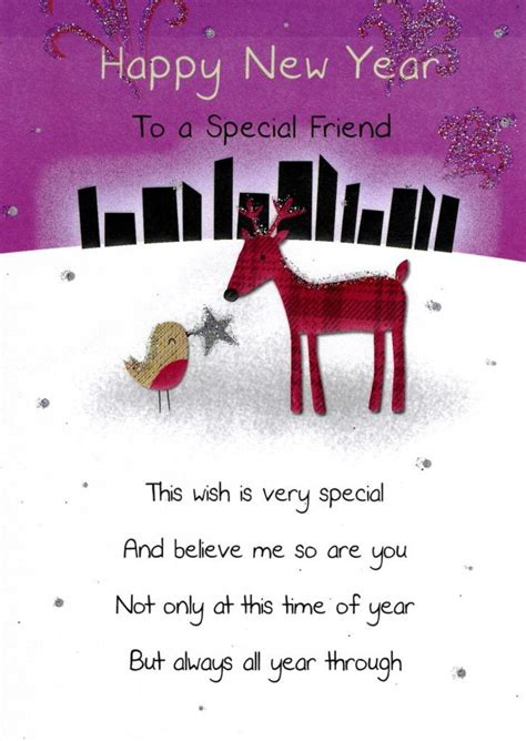 Happy New Year Special Friend Greeting Card   Cards   Love