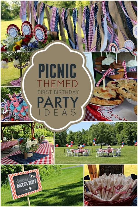 A Picnic Themed 1st Birthday Party | Spaceships and Laser