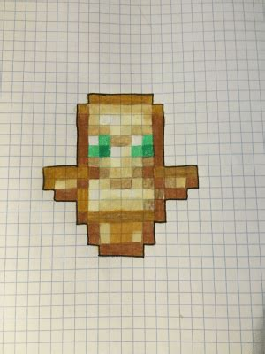 Day 21 of Drawing Minecraft Items on Graph Paper- Totem of